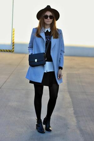 Oasapcom coat - Oasapcom hat - Oasapcom sweater - Zara skirt