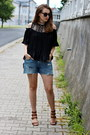 Zara-shoes-clutch-oasap-bag-h-m-shorts-tunic-shein-top