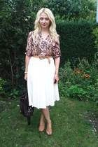 vintage skirt - asos bag - H&M top - vintage belt - Romwecom heels