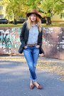 Loafers-asos-shoes-pimkie-coat-h-m-jeans-h-m-hat-h-m-shirt