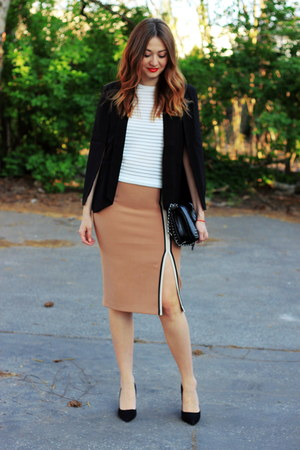 Sheinside blazer - Ebay shoes - Zara skirt - Pimkie top