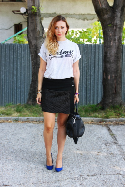 vintage t-shirt - Zara shoes - Zara skirt