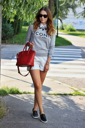 asos shoes - Mango sweater - OASAP bag - H&M shorts