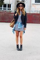 Zara shoes - Sheinside dress - OASAP hat - Mango bag