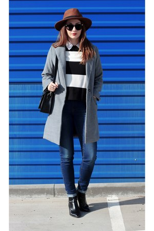 Zara shoes - Sheinside coat - H&M hat - Zara top