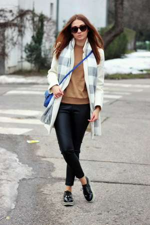 OASAP coat - Zara sweater - Primark leggings - new look bag