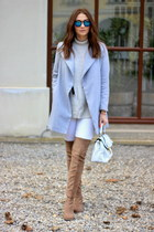 Nelly boots - OASAP coat - Primark jeans - H&M sweater - asos bag