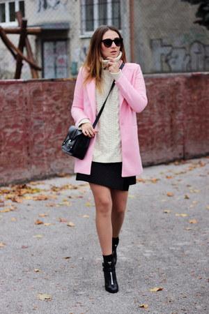 OASAP coat - ankle Topshop boots - Zara skirt