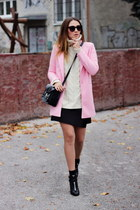 OASAP coat - ankle Topshop boots - Zara skirt