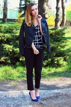 cami asos top - Zara shoes - reserved jacket - H&M pants