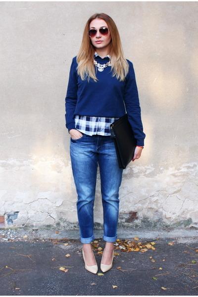 H&M jeans - asos sweatshirt - Mango heels