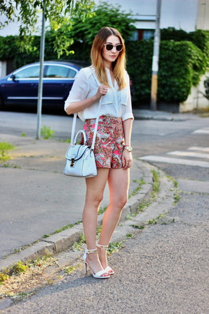 H&M shorts - asos bag - Mango heels - H&M blouse