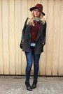 Ankle-zara-boots-pimkie-coat-zara-jeans-h-m-hat-h-m-sweater-zara-shirt