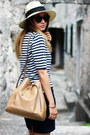 New-yorker-dress-primark-hat-mango-bag-vintage-top-gate-sandals