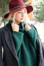 H-m-boots-h-m-hat-roll-neck-asos-sweater-stradivarius-skirt