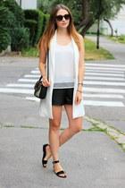 shein vest - Zara bag - OASAP shorts - asos sandals