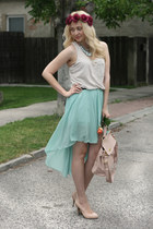 Ebay bag - Primark shoes - Ebay skirt - Zara top