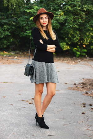 Zara sweater - ankle boots asoscom shoes - Zara skirt