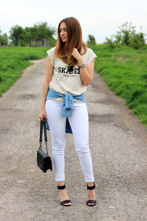 Rosegal t-shirt - sandals H&M shoes - Primark jeans - Zara shirt