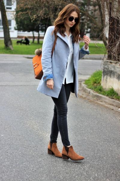 Oasapcom coat - Bershka boots - H&M shirt - H&M bag
