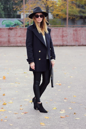 Zara coat - asos shoes - asos leggings