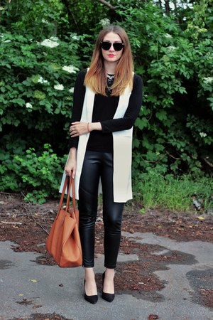 Sheinside vest - Zara sweater - Primark leggings - Mango bag - Ebay heels