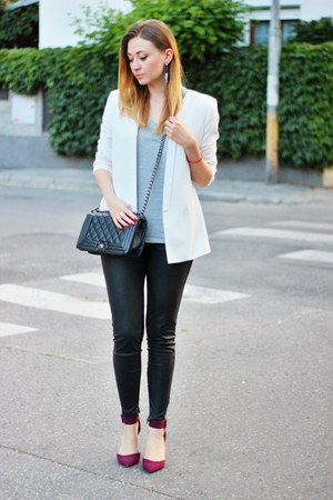 Zara shoes - asos leggings - Mango blazer - Primark t-shirt