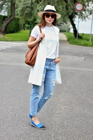 shein jeans - c&a hat - Mango bag