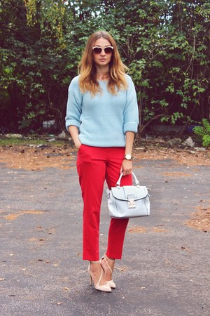 Zara shoes - Sheinside sweater - asos bag