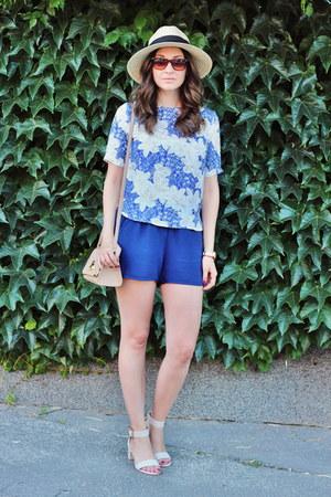 Sheinside blouse - Primark hat - asos bag - asos sandals