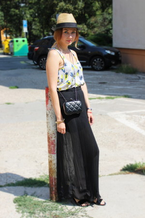 New Yorker top - Oasapcom purse - asos sandals - Zara skirt
