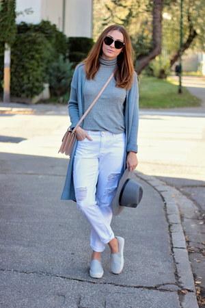 Lucluc hat - F&F jeans - F&F sweater - Mango bag - OASAP cardigan