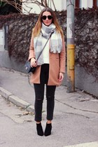 OASAP coat - ankle asos shoes - H&M jeans - Sheinside sweater - asos scarf