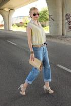 levis vintage jeans - chiffon asos shirt - asos heels