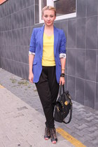 H&M blazer - Boohoocom bag - New Yorker pants - Zara top - Office Shoes heels