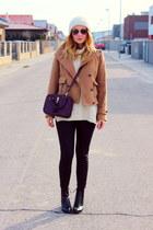 roll neck Oasapcom sweater - Zara jacket