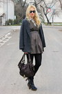 Newlookcom-boots-forever21-dress-h-m-shirt-asos-bag