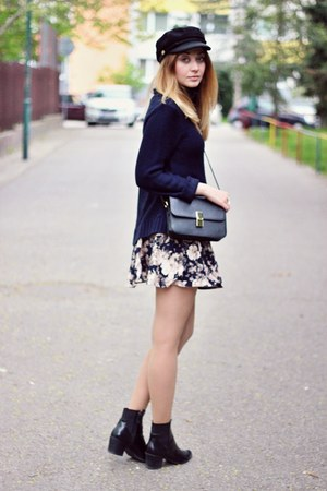 Zara boots - Choies hat - Sheinside skirt