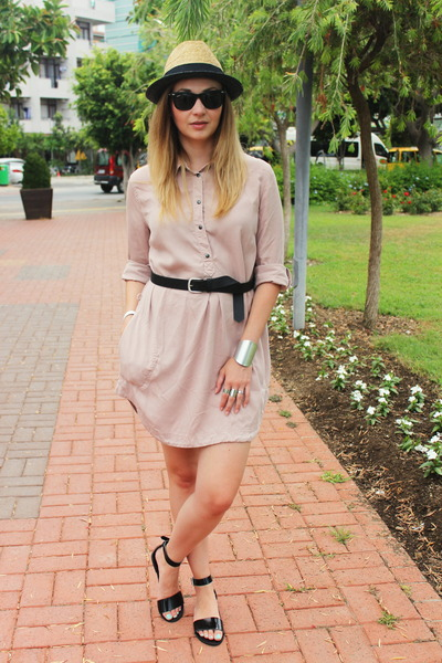 Zara dress - H&M hat - reserved belt - asos sandals