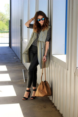 waistcoat elite99 vest - sandals H&M shoes - Primark leggings - Mango bag