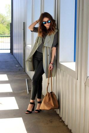 waistcoat elite99 vest - sandals H&M shoes - Primark leggings - Mango bag