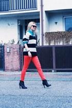 H&M pants - Topshop boots - Ebay sweater - vintage shirt