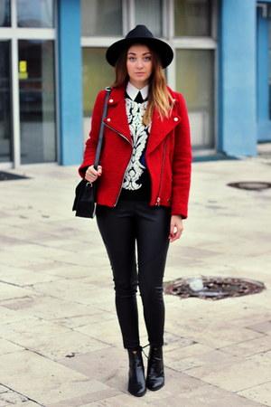 Stradivarius jacket - Zara boots - OASAP hat - Primark leggings