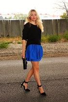 H&M skirt - vintage sweater - choiescom heels