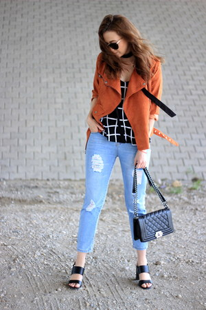 shein jeans - shein jacket - asos top