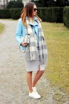 Promod jacket - sneakers asos shoes - asos scarf - Promod skirt