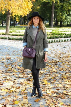 Primark bag - trench Gate coat - H&M sweater - denim Zara shirt