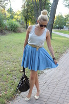 Boohoocom skirt - asos bag - Peacocks flats - Zara top - vintage belt