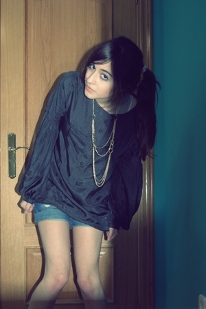 Zara blouse - H&M necklace - shorts