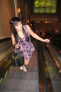Purple-dress-blue-urban-outfitters-shoes-black-purse
